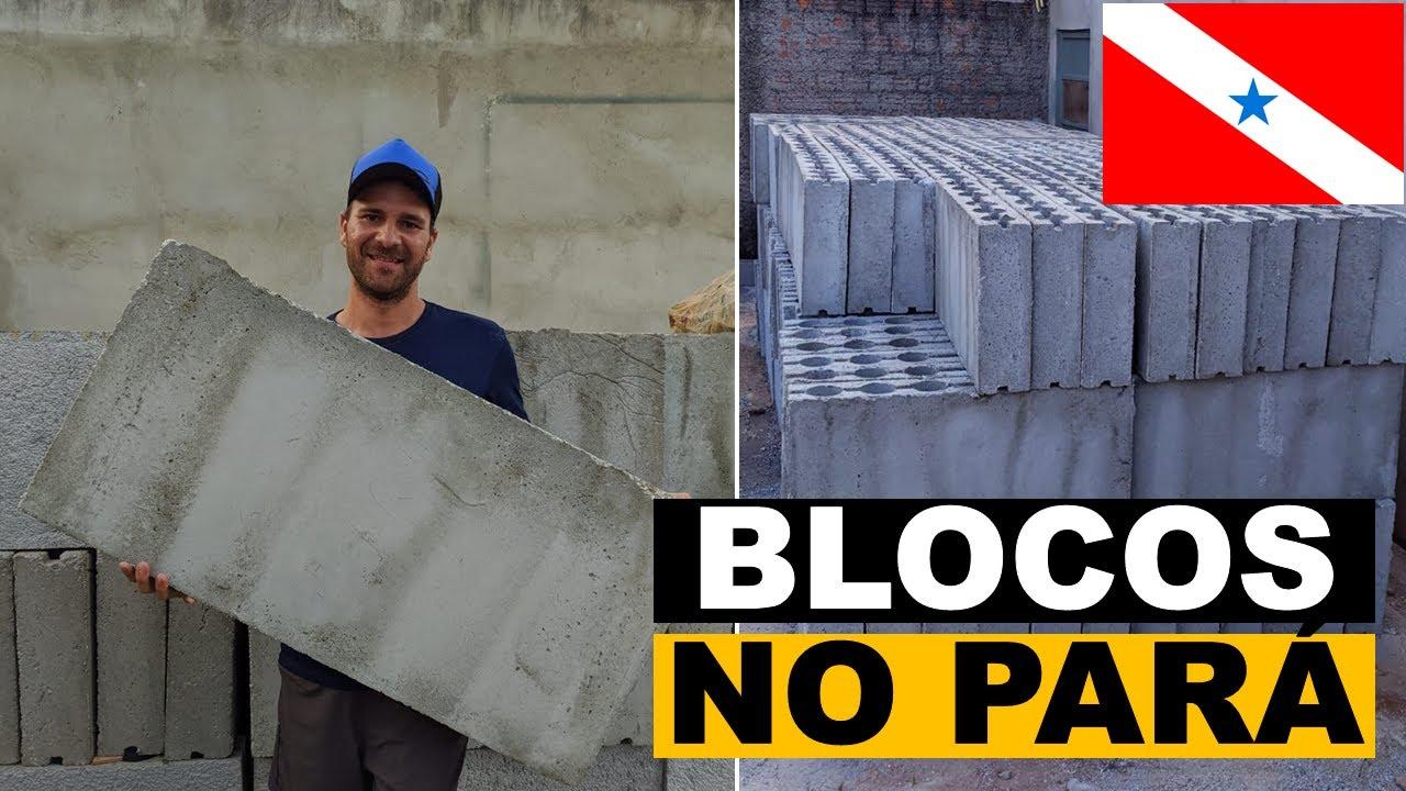 Os blocos de concreto celular chegaram no Pará.