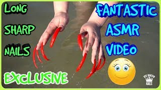 NEW CLOSE UP ASMR LONG NAILS HARD SCRATCHING! SEA SOUNDS  AND WONDERFUL EFFECTS! BEST CURVES
