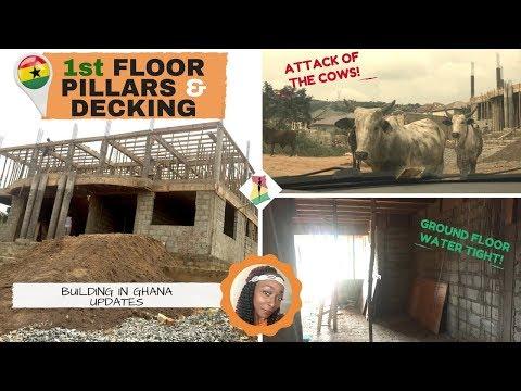 *21* Build In Ghana: 1st Floor Pillars & decking PROGRESS!!
