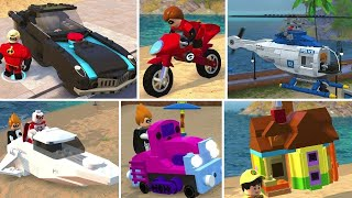 All Vehicles Unlocked in LEGO The Incredibles