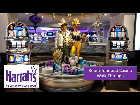 Harrah's Las Vegas Room And Casino Walk Through