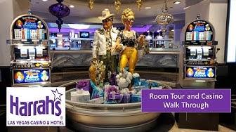 Harrah's Las Vegas Room and Casino Walk Through
