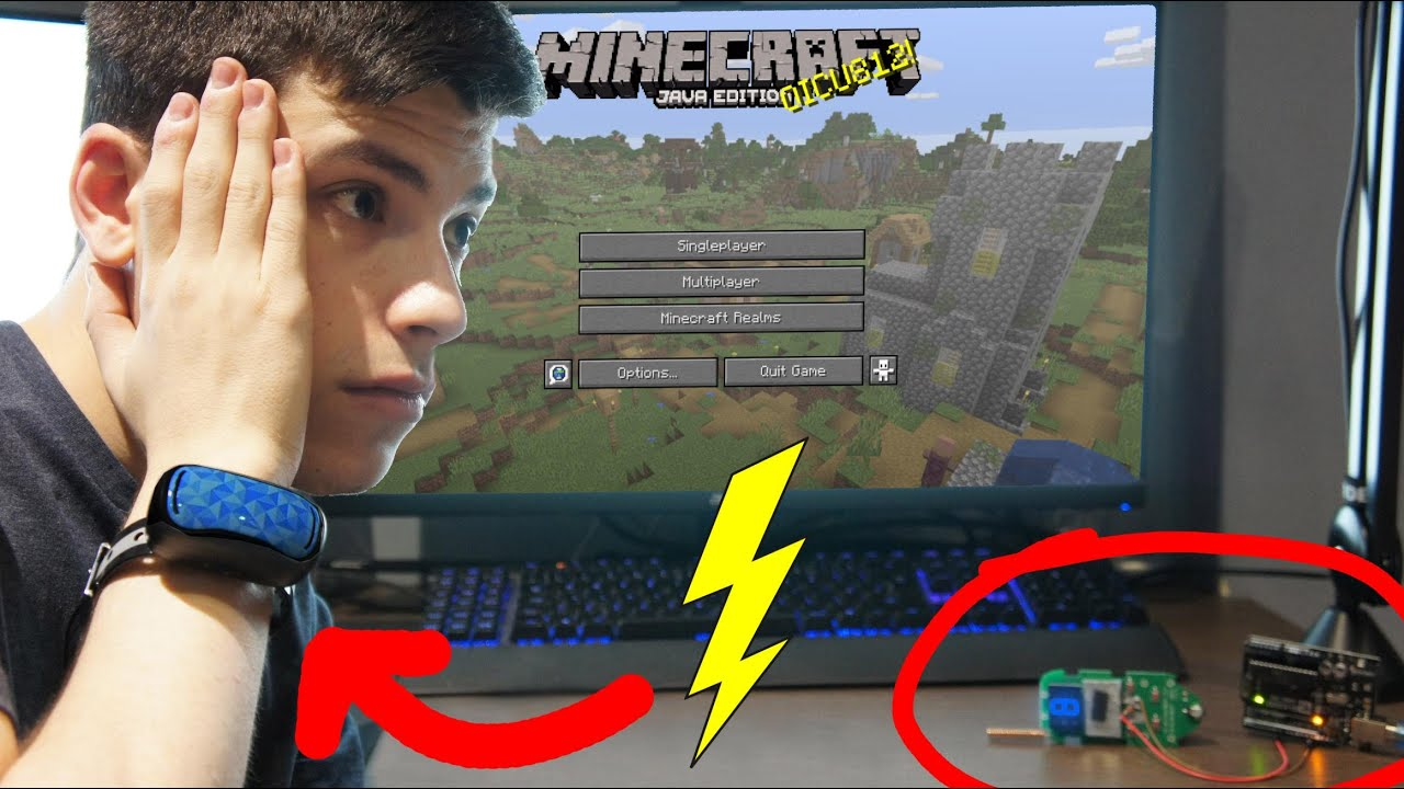 Watch This Minecraft Player Get Shocked By A Dog Collar Whenever He Takes Damage Pc Gamer