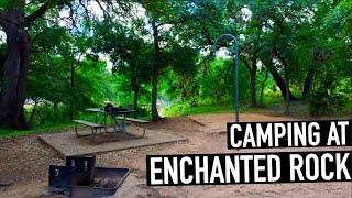 CAMPING Enchanted Rock - Teאas State Parks
