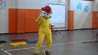 Sparky The Fire Dog Shows His Moves