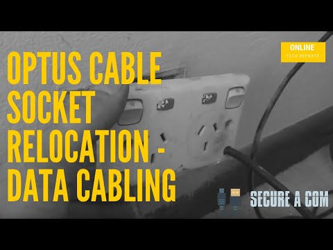 Optus Cable Socket Relocation - Data Cabling & Phone line Relocation for Sydney Customer.