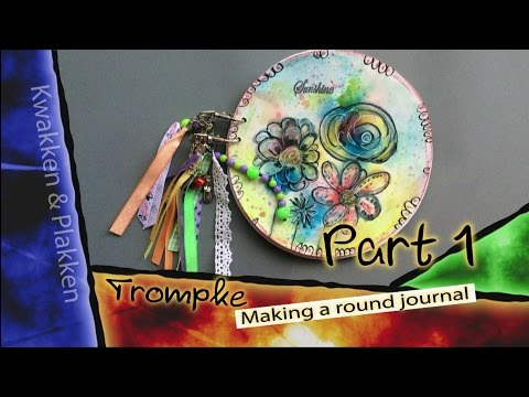 Inspiration Conspiracy Alumni Gallery - Making a round journal - Part 1
