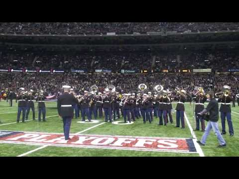 """Marine Forces Reserve Band """"Stand Up and Get Krunk"""" Saints Playoffs '09"""