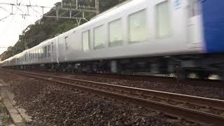 西武001系甲種輸送 東海道本線清水~興津通過