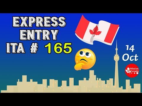 Express Entry Draw ITA#165   14 October 2020   Canada Immigration