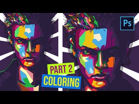 [ Photoshop Tutorial ] How to Create WPAP in Photoshop - ( PART 2 COLORING & FINISHING ) thumbnail