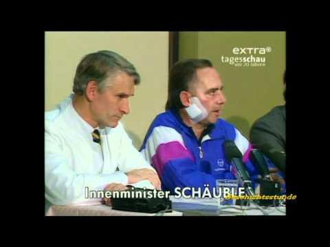 Wolfgang Schäuble - Erster Auftritt nach Attentat 1990