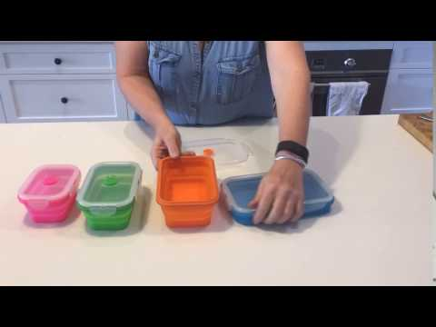 Silicone Collapsible Stack-able Food Storage Containers