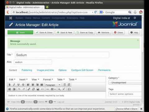 Creating Articles in Joomla - English