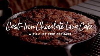 Cast Iron Chocolate Lava Cake on the Kamado Joe Classic II
