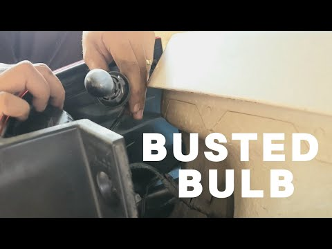 HOW TO REPLACE BUSTED BULB (ISUZU MUX)