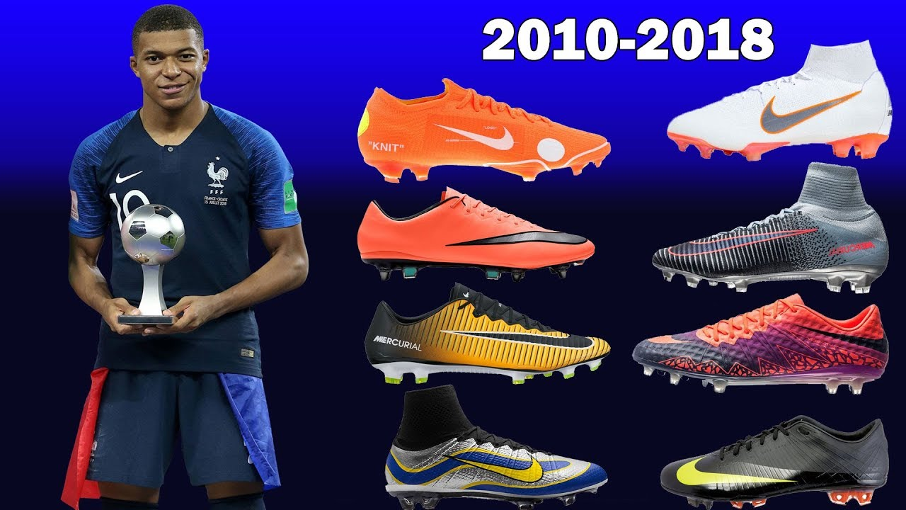 a4a684d40 The Evolution Of Kylian Mbappe s Nike Boots 2010-2018 - YouTube