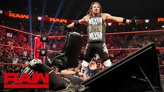 Seth Rollins and AJ Styles make their Universal Title Match official: Raw, April 29, 2019
