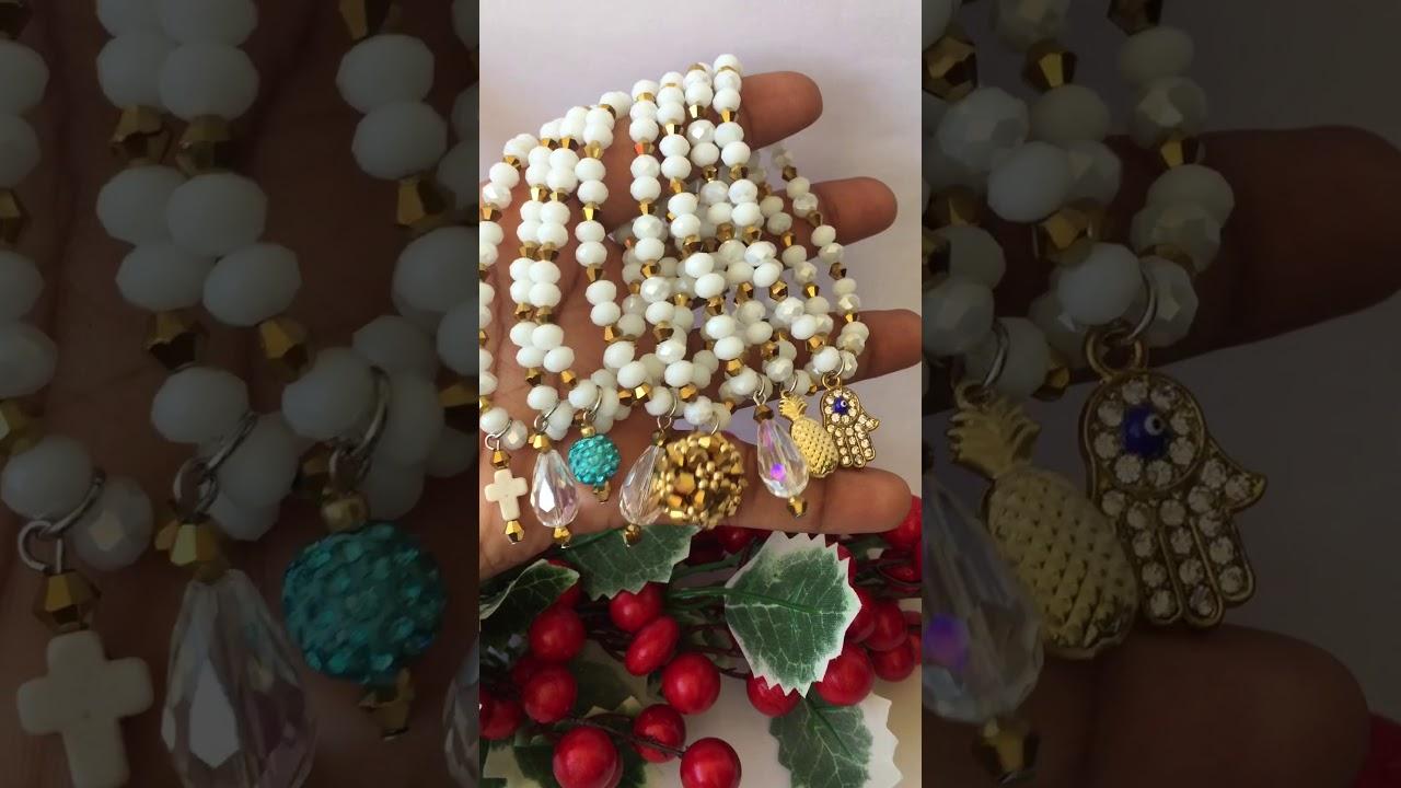 3ada76c75e1b Pulseras en cristal hechas a mano 2018, pulseras hermosas para lucir como  reina