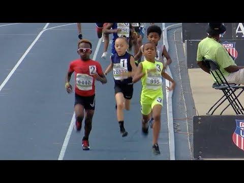 8-Year-Old Drops Monster 800m Kick