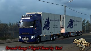 ETS 2 1.35   Renault Range T Rigid Chassis Addon by Kast I New mod