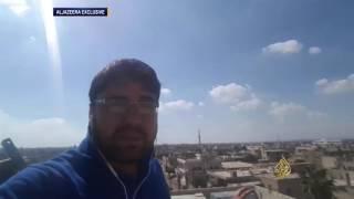 طائرات النظام السوري تقصف غرب درعا