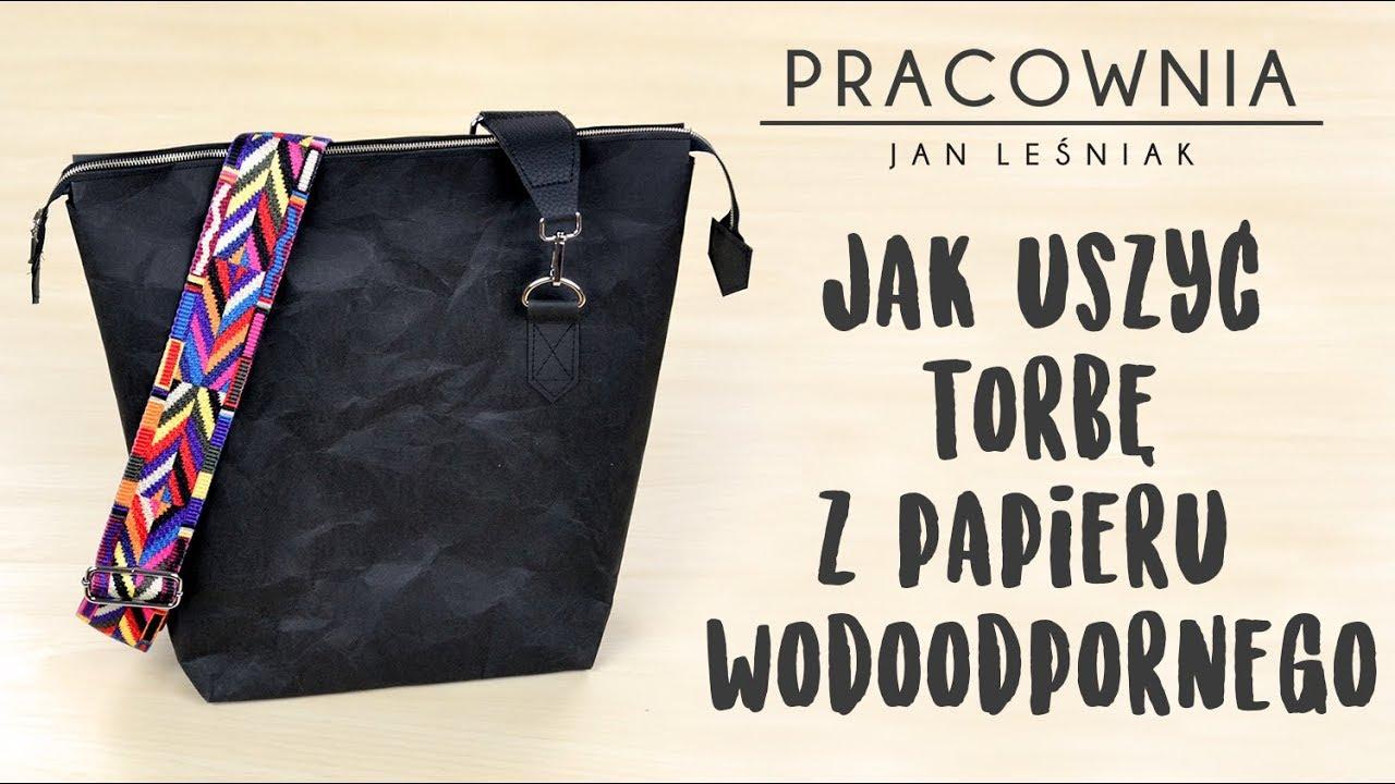 a72c05ab2817f DIY  jak uszyć torbę miejską z papieru wodoodpornego   Pracownia Jan Leśniak