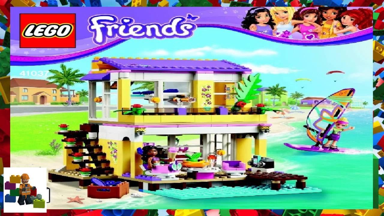 Lego Instructions Lego Friends 41037 Stephanies Beach House
