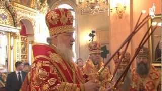 Патриарх совершил литургию в Покровском монастыре(2 мая 2012 года, в день 60-летия преставления блаженной Матроны Московской и годовщину ее канонизации, Святейши..., 2012-05-02T16:14:58.000Z)