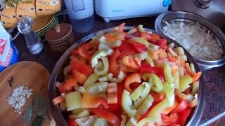 Лечо из перца, помидоров и лука