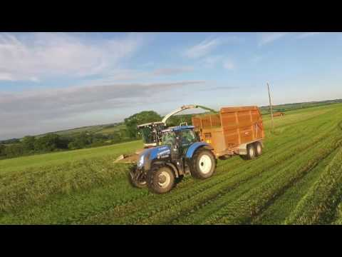 Organic Undersown Wholecrop Harvesting 2016 (claas forager, silage, tractors, drone, farming)