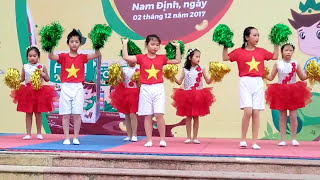 """Múa:""""Cơn mưa hè""""-Tiểu học Chu Văn An Nam Định"""
