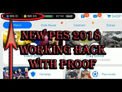 Pes 2018 hack Pro Evolution Soccer PES 2018 Hack (Android / iOS / Xbox / PS4 )
