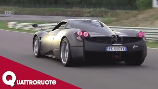 Marchettino - Pagani Huayra sound e giro in pista