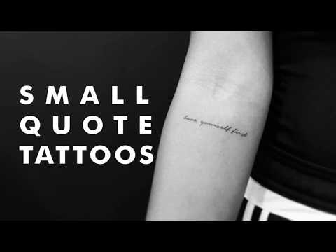 Small Quote Tattoos 2018