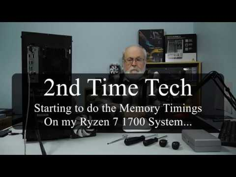 Starting Memory Timings Tuning on My Ryzen 7 1700 System...