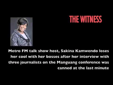 Sakina Kamwendo loses her cool on air