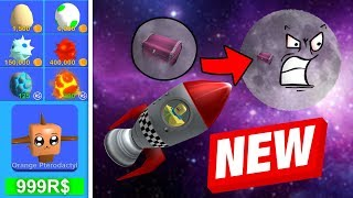 TO THE MOON! * FIRST TIME * (Roblox Mining Simulator)