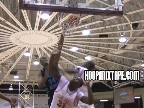 Derrick Favors Dominating At HoopHall Classic