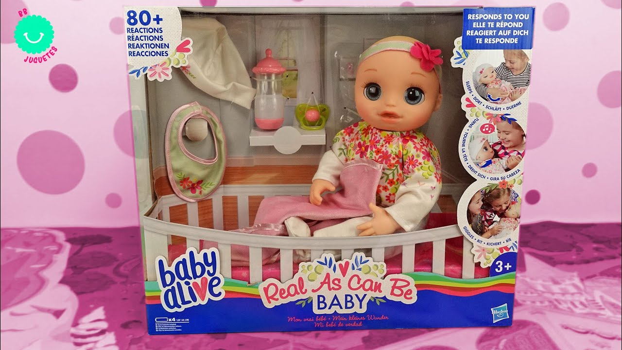 ¡NUEVO! Baby Alive Real As Can Be Baby