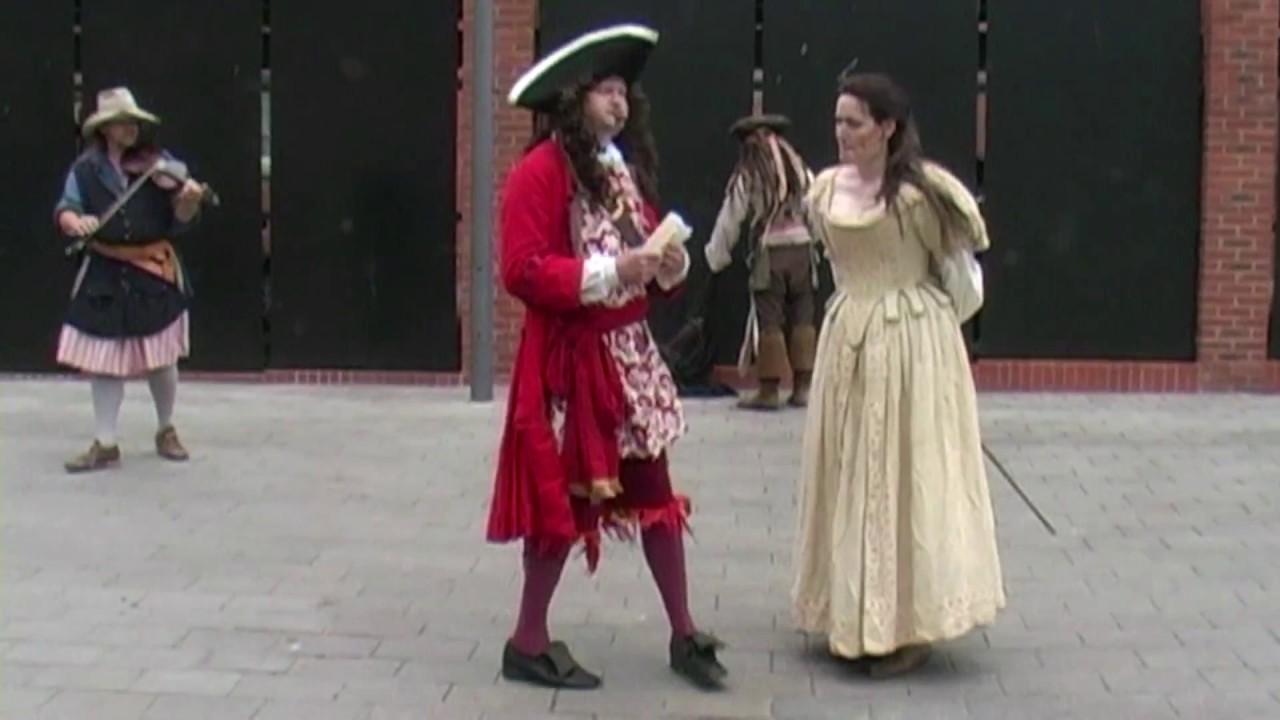 Captain Jack Sparrow's swordfight at the Gloucester Tall Ship Festival, Gloucestershire, England