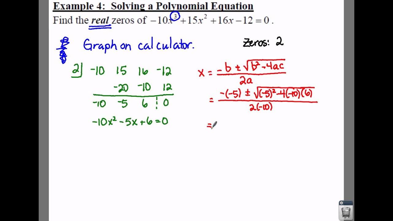 College Algebra 3 4 Notes Example 4