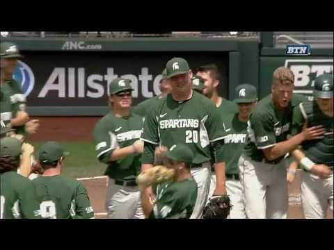 Michigan State Game Ending Double Play vs. Maryland