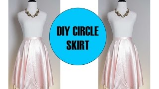 Diy Circle Skirt With Zipper, Sewing Project For Beginner