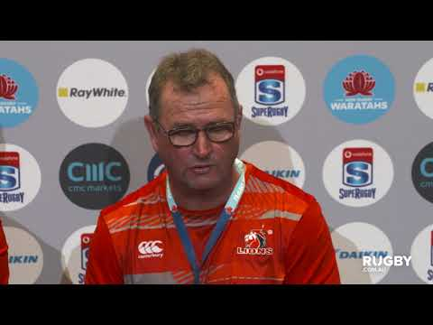 Vodafone Super Rugby Round 10: Lions press conference