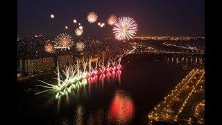 Международный фестиваль фейерверк-шоу в Москве - ВИД С МЕСТА ЗАЛПОВ
