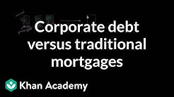 Corporate debt versus traditional mortgages | Finance & Capital Markets | Khan Academy