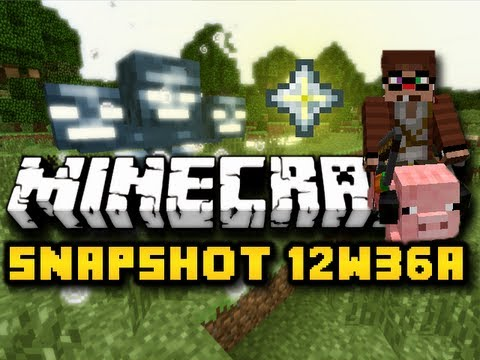Minecraft Snapshot 12w36a - WITHER BOSSES, HEADS, NETHER STARS, & MORE! (HD)