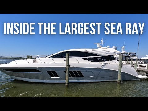 Touring The MOTHER OF ALL SEA RAYS - $1,500,000 Sea Ray L650 Yacht Tour