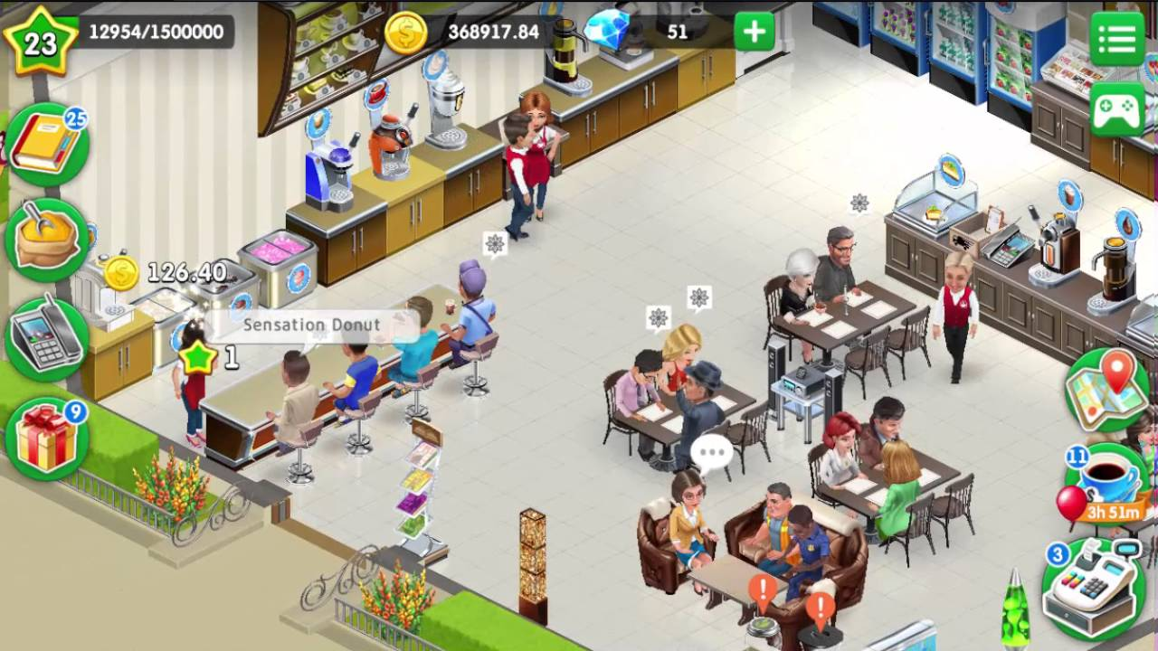 My Café: Recipes & Stories # 105 450k XP for Kevin`s order & reached Level  23